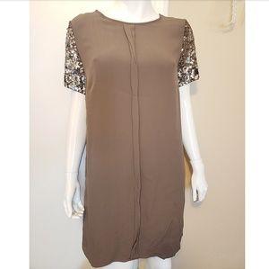 Chelsea & Violet Shimmer Sleeve Dress